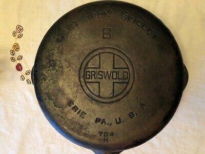 Vintage Griswold Cast Iron Skillet No. 8