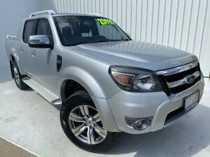2009 Ford Ranger PK Wildtrak Crew Cab Silver 5 Speed Manual Utility Mundingburra Townsville City Preview