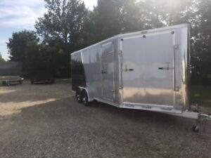 Brand New 7x23 Drive in and out all aluminum snowtrailer