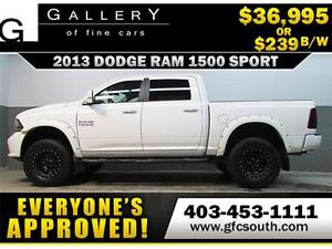 2013 DODGE RAM SPORT LIFTED *EVERYONE APPROVED* $0 DOWN $239/BW!