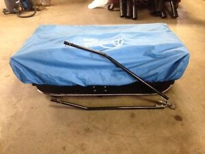 ice fishing package, ( sleigh/hut and jiffy 4G Auger)