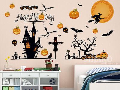 Wandtattoo Wandsticker Wandaufkleber Halloween Kürbis Deko Kinderzimmer Cartoon
