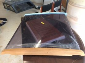 Perspex and teak Elan 36 companionway sliding hatch 82cm x 90cm