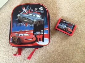 Cars 2 Rucksack and Wallet