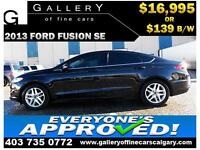 2013 Ford Fusion SE $139 bi-weekly APPLY NOW DRIVE NOW