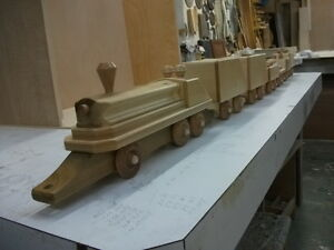 Handcrafted Wooden Toy Trains