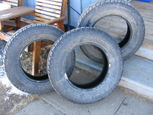 2 used wild Country 225/70r16 Tires one free three total  ABA