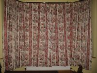 "Dunelm, made to measure curtains, lined each curtain 130"" width and 81"" length. Excel condition."