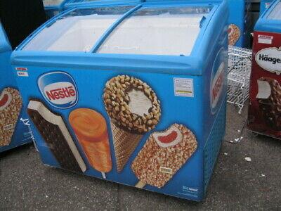 Aht Curved Glass Ice Cream Freezer Merchandiser