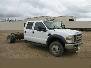 2009 Ford F-450 DRW XLT 4X4 CREW CAB & CHASSIS PTO DUALLY DIESEL
