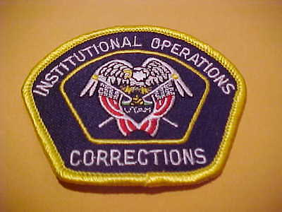 UTAH DEPT. OF CORRECTIONS OPERATIONS POLICE PATCH  NEW CAP SIZE 3 1/4 X 2 1/2 IN