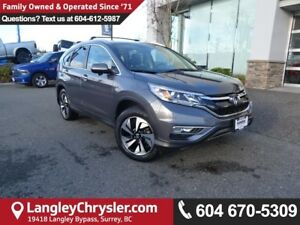 2016 Honda CR-V Touring *ACCIDENT FREE * LOCAL BC SUV *