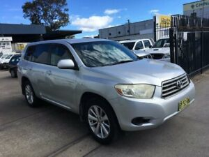 2008 Toyota Kluger GSU45R KX-R (4x4) 5 Seat Silver 5 Speed Automatic Wagon Lidcombe Auburn Area Preview