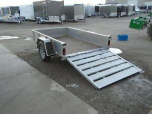 **USED** 5X8 ALUMINUM UTILITY TRAILER - SOLID SIDES, BIFOLD GATE London Ontario image 5