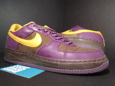 2006 Nike Air Force 1 Low INSIDEOUT IO BISON BROWN PRO GOLD PURPLE 312486-272 10 ()
