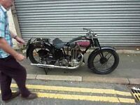 Vintage AJS , classic from 1929,500cc OHV rare machine in good running order, transferable reg no.