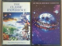 CSL TWIN TAPE SETS CLASSICAL EXPERIENCE & THE BEST CLASSICAL ALBUM IN THE WORLD EVER CASSETTE TAPES