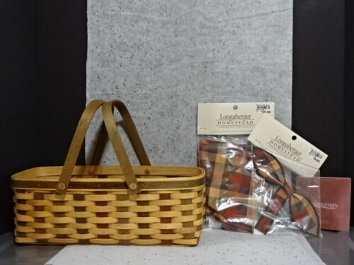 2007 LONGABERGER ACT AMERICAN CRAFT TRADITIONS WOVEN MEMORIES BASKET LINER TIEON