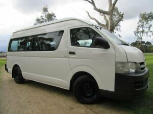 2009 Toyota HiAce TRH223R MY10 Commuter High Roof Super LWB White 4 Speed Automatic Bus Dandenong Greater Dandenong Preview