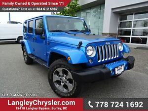2016 Jeep Wrangler Unlimited Sahara ACCIDENT FREE w/ 4X4, NAV...