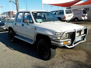 1991 Toyota Hilux LN106R DX White 5 Speed Manual Utility Victoria Park Victoria Park Area Preview