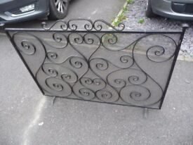 Large Beautiful Ornate Metal Fireguard- absolutely lovely - really must see - effective