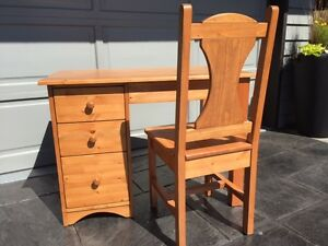 Solid Wood Student Desk and Chair