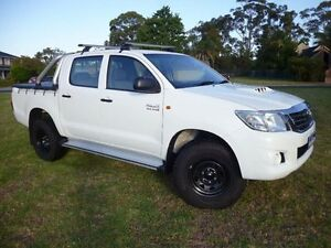 2012 Toyota Hilux KUN26R MY12 SR (4x4) White 4 Speed Automatic Dual Cab Pick-up Mordialloc Kingston Area Preview