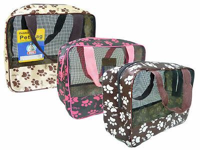 "1x Pet Carrier Soft Sided Cat / Dog Puppy Comfort Travel Bag 9"" x 8.7"" x 4"""