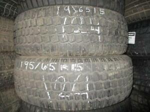 195/65 R15 WINTER KING WINTER TIRES USED SNOW TIRES (PAIR OF 2 - $110.00) - APPROX. 85% TREAD