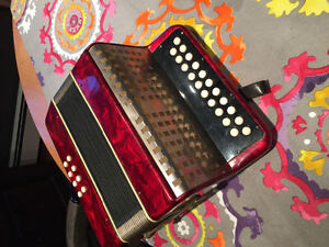 Serviced and Restored G/C Accordion. Made in Germany