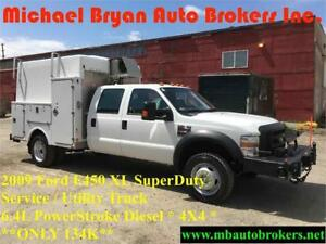 2009 FORD F450 SERVICE TRUCK / UTILITY TRUCK *ONLY134K* DIESEL