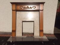 MDF Fire surround and Marble Hearth and Backplate