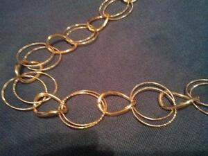 NEW ROSE GOLD CIRCLE SWEATER NECKLACE 36 INCHES *ORILLIA*