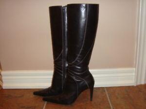 Bronx Black Ladies Leather Boots