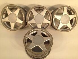 "TITAN AZEV 15"" 4x100 7j alloy wheels. Deep dish. not borbet bbs, ats, lenso, brabus, AEZ, tm"