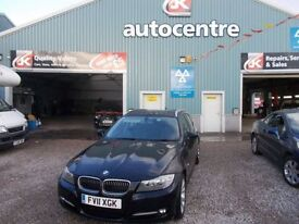 BMW 3 SERIES 2.0 318D EXCLUSIVE EDITION TOURING 5d 141 BHP DIES (black) 2011