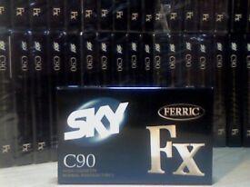 NEW SEALED SKY FX FERRIC 90 CASSETTE TAPES (1996). 85p EACH.