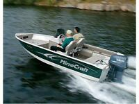 Clear Out Even! 2015 Mirrocraft 16' Outfitter side Console