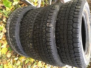 Uniroyal Tiger Paw Studded Winter tires P205/70/R14 West Island Greater Montréal image 1