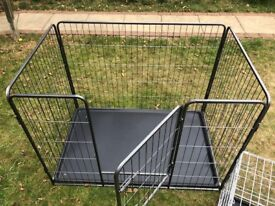 Like new Dog/Animal 125cmL x 80cmW x 89cmH cage and 76cmL x 48cmW x 54H crate