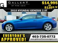 2010 Hyundai Genesis COUPE $139 bi-weekly APPLY NOW DRIVE NOW