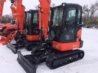 Kubota KX033-4GA Compact Excavator with Angle Blade Brandon Brandon Area Preview