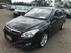 2009 Hyundai i30 FD MY09 SR Black 5 Speed Manual Hatchback Lansvale Liverpool Area Preview