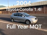 £1150 2004 Toyota Corolla 1.4l like Corsa Clio Micra Fiesta polo punto getz focus astra golf,