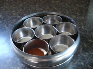 Indian steel spice container with lid