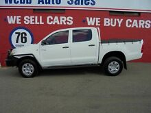 2010 Toyota Hilux KUN26R MY09 SR Utility White 4 Speed Automatic Dual Cab Welshpool Canning Area Preview
