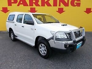 2013 Toyota Hilux KUN26R MY12 SR Double Cab White 4 Speed Automatic Utility Winnellie Darwin City Preview