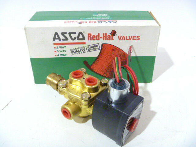 "1/4"" Asco 8342g1mo 4w 120/60 Solenoid Valve New Old Stock In Box"