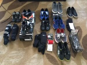 LOT SOCCER CLEATS (INDOOR & OUTDOOR) & PADS & SHOES